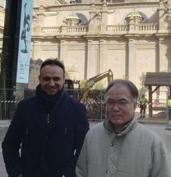Con Okawa Chiko sensei. Decimoctavo maestro tsubako de la escuela Edo Itto.