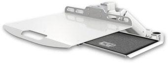 ポールマウント 支柱取付 ガススプリング内蔵 昇降式 ノートパソコン用アーム マウストレイ付:ASUL180-P15-LUS