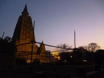 夜明けの大塔