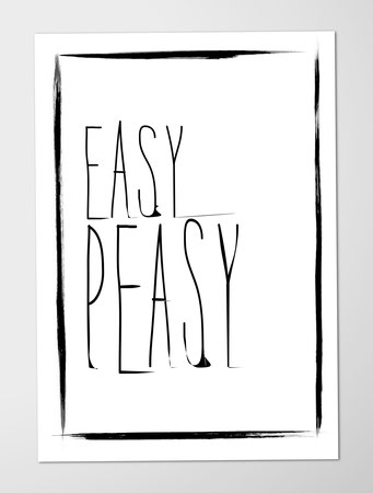Poster, Juhu Papeterie, easy peasy, sommer, spruch motivation, a4, flacher Versand