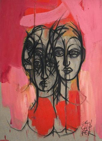 Les trois frères - Acrylique/toile -