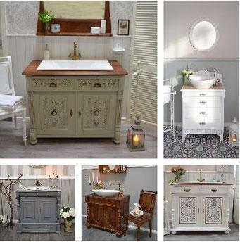 Nostalgische Waschtische für romantische Badezimmer