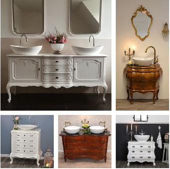 Barocke Badezimmer-Waschtische