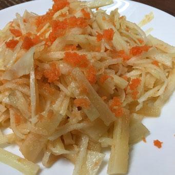 ヤーコンと大根、菊芋のサラダ