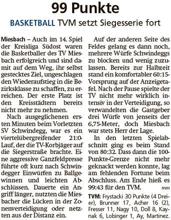 Bericht im Miesbacher Merkur am 3.3.2020 - Zum Vergrößern klicken