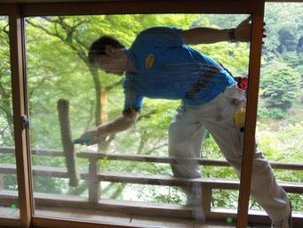 ガラスの清掃