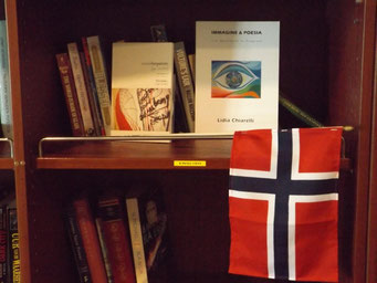 Library on board Richard With ship (Hurtigruten)