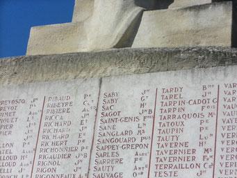 Cimetière de Villeurbanne-Cusset (69) monument aux morts 14-18