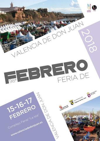 Programa de la Feria de Febrero en Valencia de San Juan