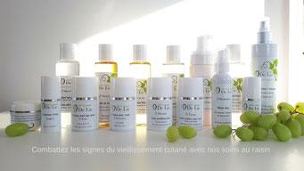 cosmetiques au raisin 100% naturels Ô De Lie
