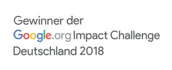 Gewinner der google.org Impact Challenge Deutschland 2018