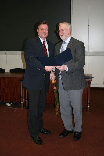 Verleihung Med. Gutachter cpu 2009 durch Prof. Lehmann