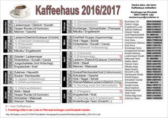 Pfarrkaffee Diensteinteilung 2016/2017 (PDF)