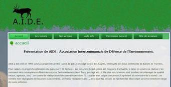 Le site de l'association A.I.D.E