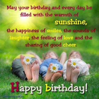 Geburtstagswünsche und Sprüche in Englisch
