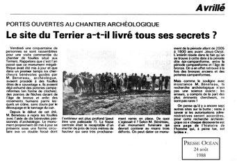 1988 - le site du Terrier a-t-il livré tous ses secrets? - Presse Océan