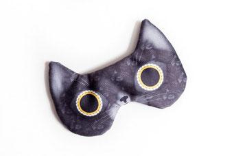 Halloween, masque, masque de sommeil, chat, noir, chat noir, sommeil