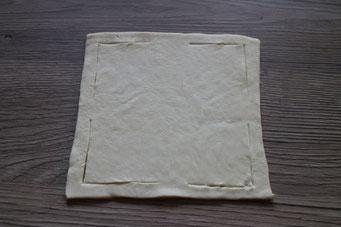 Blätterteig-Quadrat