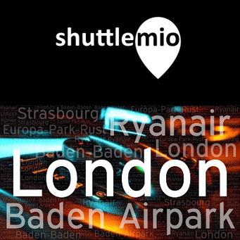 shuttlemio Ihr Shuttle Service / von London mit Ryanair zum Baden Airpark / Shuttle nach Strasbourg oder Baden-Baden