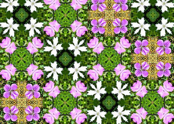 お花のパッチワーク
