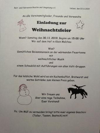 Weihnachtsfeier auf dem Hof der neuen Besitzer von Manuela Kronich und Marc Zimmermann in Klein Malchau