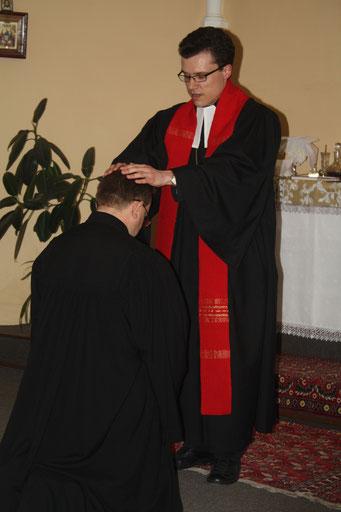 Введение Павла Ткаченко в должность пастора общины Новороссийска