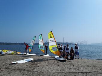 ウインドサーフィン スクール 海の公園 神奈川 横浜 スピードウォール