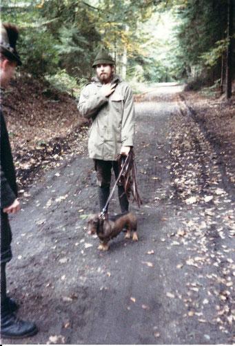 1987 auf der Sachsenwaldsuche nach getaner Arbeit, Foto: Ulf F. Baumann