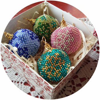 Christmas tree decorations, Set 4 pieces Christmas tree balls, Beautiful Snowflakes decorations balls, New Year decorations, Christmas gifts