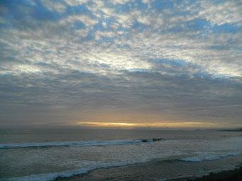 ウロコ雲&夕日