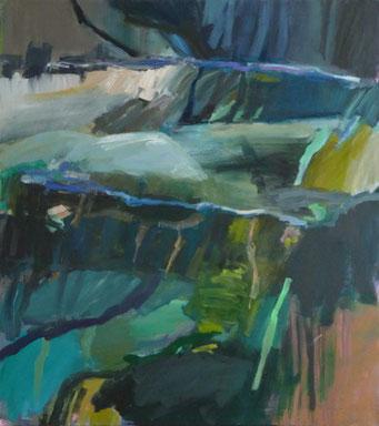 Becken 27.8.12 2012 100 x 90 cm Öl / Leinwand