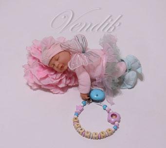 Деревянный именной аксессуар для новорожденного ребёнка
