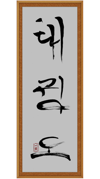 Calligraphy by Sabum Erol (Taekwondo)