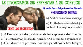 cuales son los requisitos para un divorcio  en el ecuador