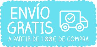 Portes Gratis a partir de 100€ de compra. Para pedidos inferiores se añadirán 10€ en concepto de gastos de empaquetado y transporte.