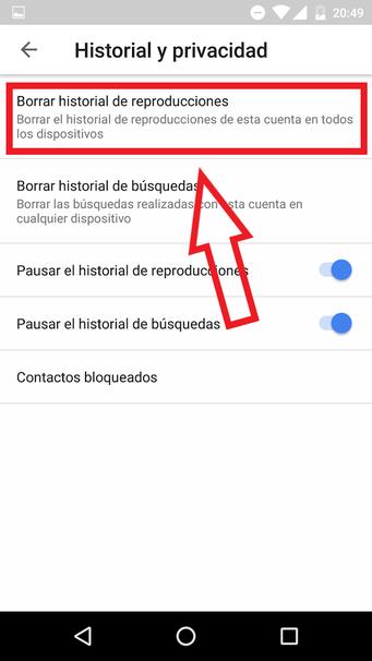 Cómo Borrar El Historial De Reproducciones De Youtube En Android