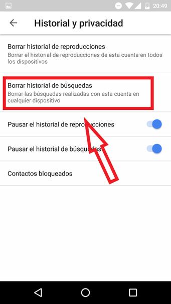Cómo Borrar El Historial De Búsqueda De Youtube En Android