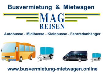 Busvermietung Mietwagen Autobusse Midibusse Kleinbusse Anhänger Fahrradanhänger Wien Niederösterreich Österreich