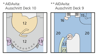 AIDAvita Deckpläne Legende