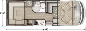 Grundriss Mobilvetta K-Yacht Tekno Design 79