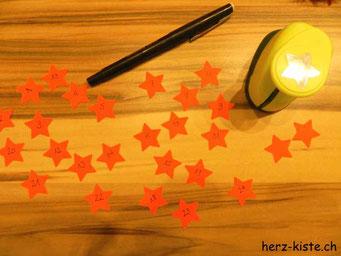 Adventskalender Zahlen aus Sternen