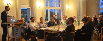 Schreiber moderierte zusammen mit seinem Kollegen Christian Piwarz MdL