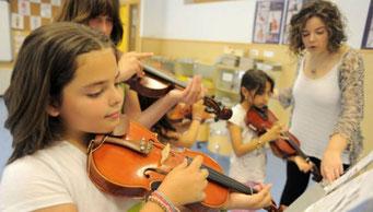 Día de la Música Estudiantes en una clase de música. JOSÉ JORDÁN