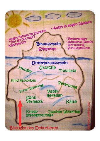 Biologisches Dekodieren erklärt am Eisberg Modell