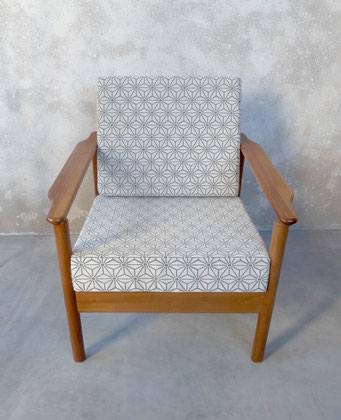 fauteuil vintage scandinave teck RDA