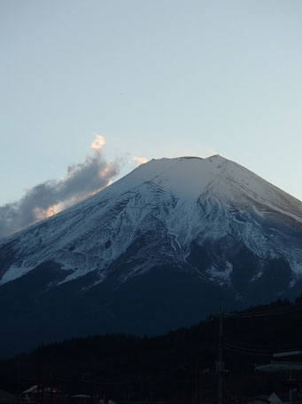 Mt. Fuji awaits for the New Year