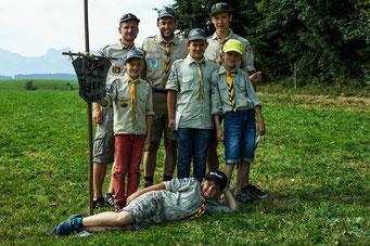 Kundschafterteam der Jungs - regionales Sommercamp 2015