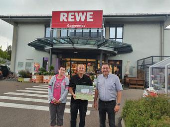 Auf dem Foto von links: Jana Krühne, Stefan Guggenmos, Roland Müller