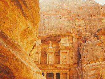 Die antike Felsenstadt Petra. Quelle:  pixabay