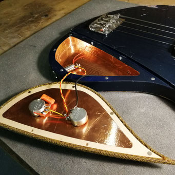 passive ulrich bass electronics in a shielded copper housing